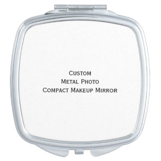 Create Custom Personalized Metal Photo Compact Vanity Mirror