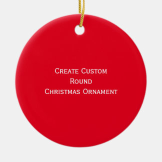 Create Custom Personalized Round Christmas Decor Christmas Ornament