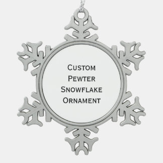 Create Custom Pewter Snowflake Christmas Ornament