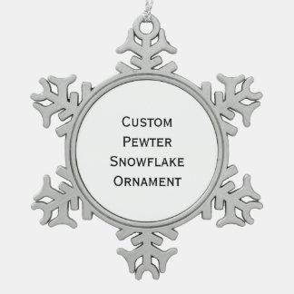 Create Custom Pewter Snowflake Ornament