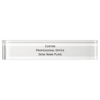 Create Custom Professional Office Desk Name Plate