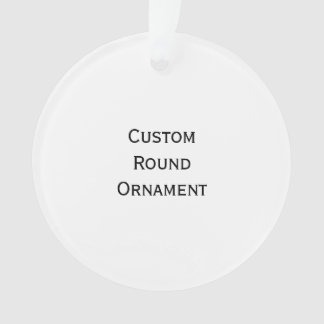 Create Custom Round Acrylic Christmas Ornament