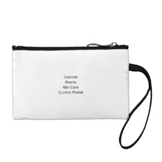 Create Custom Satin Photo Key Coin Clutch Purse