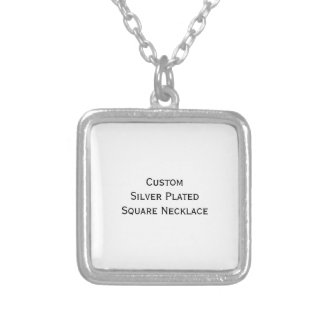 Create Custom Silver Plated Square Photo Necklace