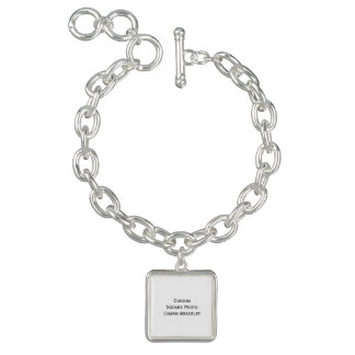 Create Custom Square Photo Charm Bracelet