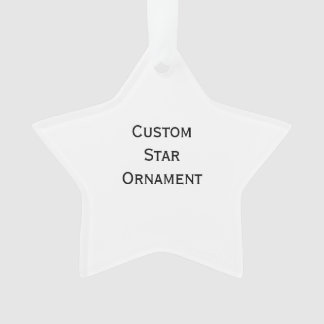 Create Custom Star Acrylic Christmas Ornament