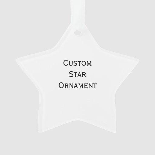Create Custom Star Acrylic Ornament