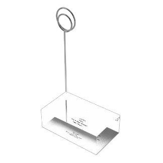 Create Custom Table Place Menu Number Card Holder Table Card Holder