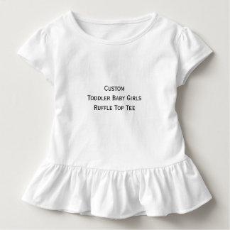 Create Custom Toddler Baby Girls Ruffle Top Tee
