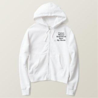 Create Custom Womens Embroidered Basic Zip Hoodie