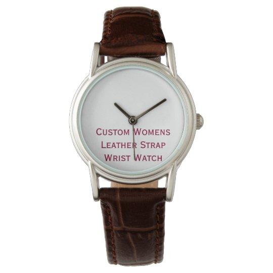 Create Custom Womens Leather Strap Wrist Watch