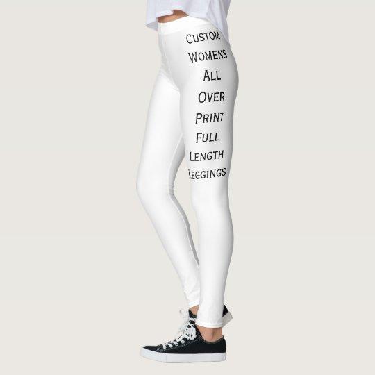 Create Custom Womens Long Leggings Yoga Pants