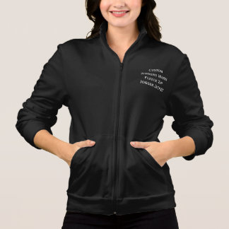 Create Custom Womens Warm Fleece Zip Jogger Jacket