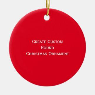 Create/Design Custom Round Christmas Ornament