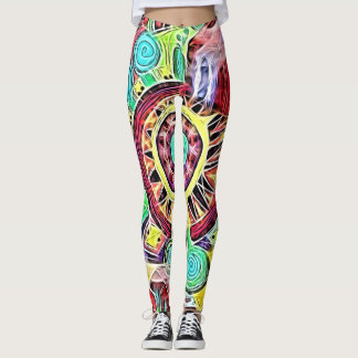 Create Fireworks by Cindy Ginter Leggings