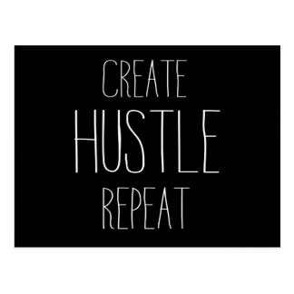 Create Hustle Repeat Postcard