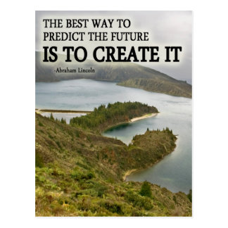 Create It Quote on Photograph Post Cards