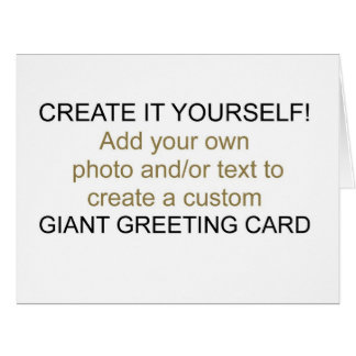 Create It Yourself Giant Greeting Card