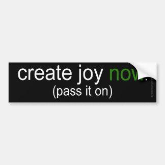 Create Joy Now - Pass It On Car Bumper Sticker