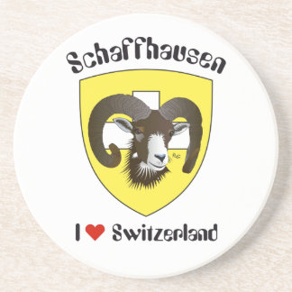 Create-live Switzerland beer covers Sandstone Coaster