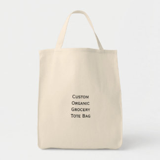 Create Make Custom Organic Cotton Grocery Tote Bag
