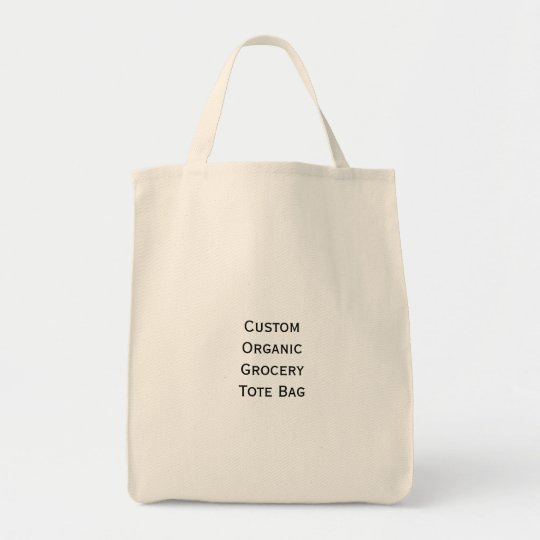 Create Make Custom Organic Cotton Grocery Tote Bag