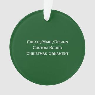 Create/Make/Design Custom Round Christmas Ornament