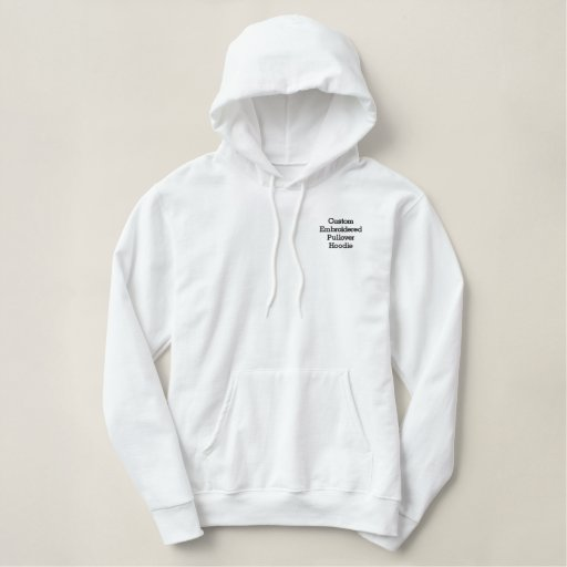 Create Mens Custom Embroidered Pullover Hoodie
