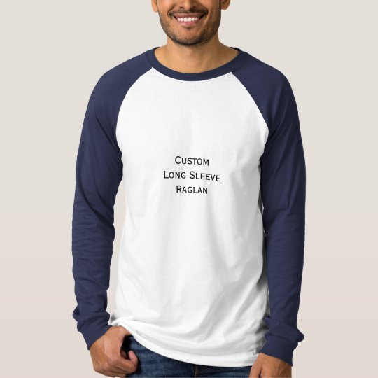 Create Mens Custom Long Sleeve Baseball Raglan T-Shirt