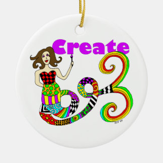 Create Mermaid Christmas Ornament