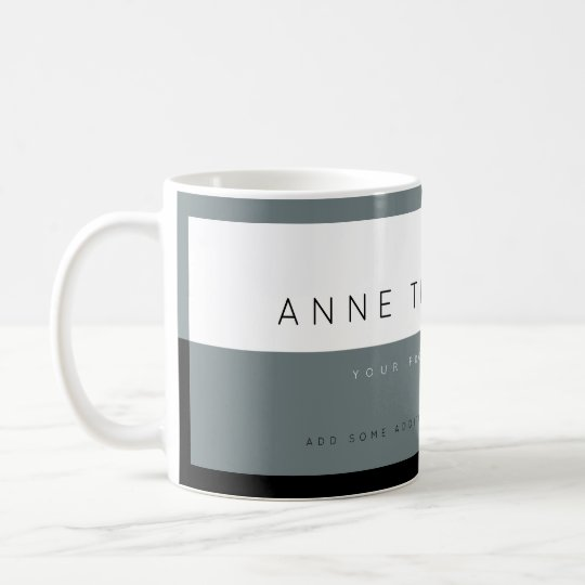 create modern grey&white custom profession coffee mug