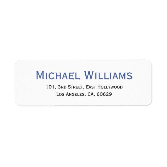 Create Modern Personalised Return Address Label