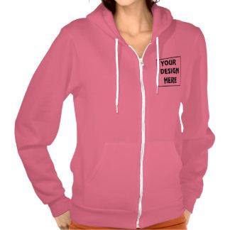 Create My Own Deep Pink Zip Hoodie