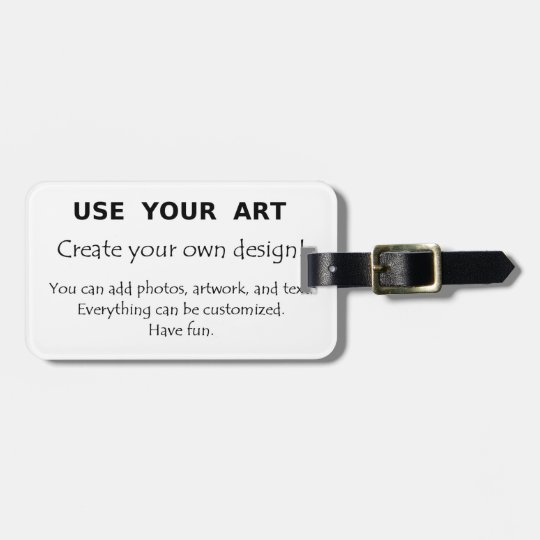 Create my own luggage tags using art or