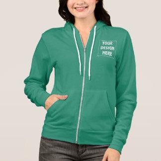 Create My Own Mermaid Green Zip Hoodie
