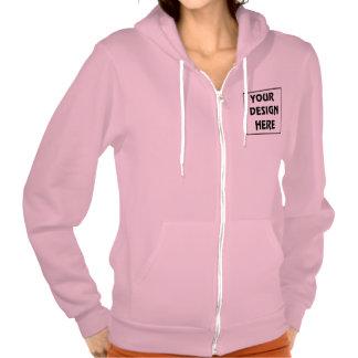 Create My Own Neon Heather Pink Zip Hoodie