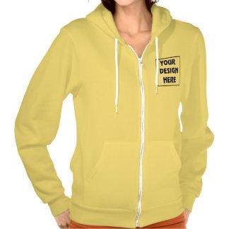 Create My Own Sunshine Yellow Zip Hoodie