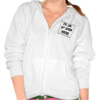 Create My Own White Zip Hoodie