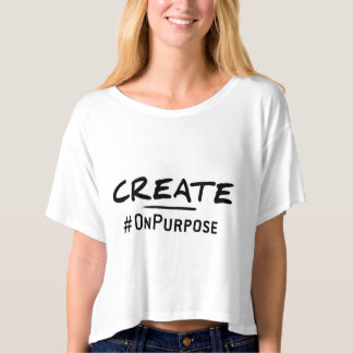 Create #OnPurpose Bella+Canvas Boxy Crop Top