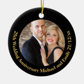 Create Own ANNIVERSARY PHOTO Gift under $15 Christmas Ornament