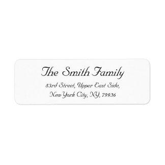 Create Personalized Elegant Return Address Label