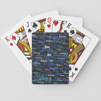create playing cards game with your own name on it