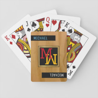 create playing cards / monogram (name + initial)