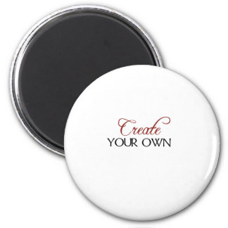 Create Template 6 Cm Round Magnet