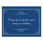 create your coloured wedding sign or party sign