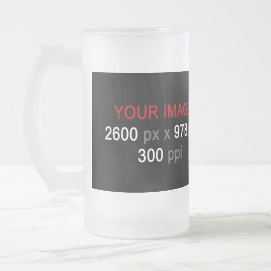 Create Your Custom Photo 16 oz Frosted Glass