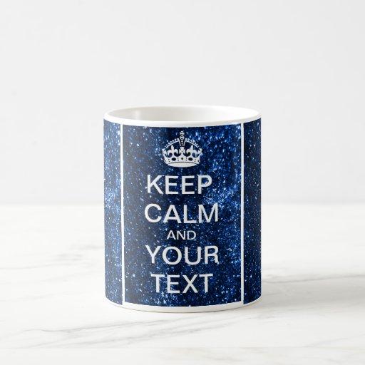 "Create Your Custom Text ""Keep Calm and Carry On""! Coffee Mugs"