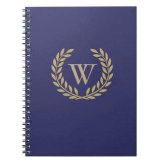 Create Your Decorative Wreath Monogram Note Book