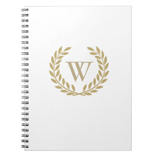 Create Your Decorative Wreath Monogram Notebook