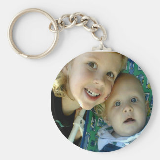 Create Your Keychain! Basic Round Button Key Ring